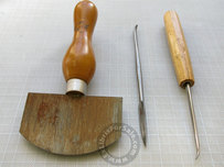 Tools needed for making a mezzotint.